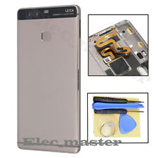 Gray For Huawei P9 Standard Housing Battery Door Back Cover Rear Panel + Button