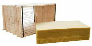 2kg Packung.Wachspl Bienenwachspastillen Zander oder NormalMaße Mittelwände