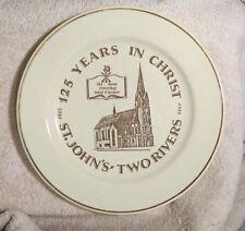 St. John's Church Two Rivers Wi Shoto Wilke Bartelt Glass Plate
