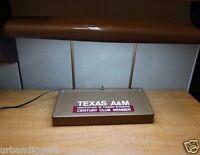 13016/ Vintage TEXAS A&M Mid Century Desk Lamp ~ Table light Aggie Cadet estate