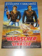 HERRSCHER DER STRASSE - Kinoplakat A1 - SYLVESTER STALLONE David Carradine