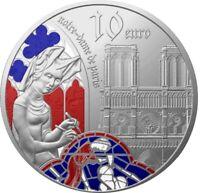 FRANCE 10 EURO BELLE EPREUVE ARGENT 2020 EUROPA STAR NOTRE DAME PARIS 5000 RARE
