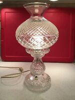 Waterford Crystal Alanna Inishmann Diamond Cut Table Lamp 14""