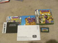 Spyro: Attack of the Rhynocs (Game Boy Advance) *COMPLETE W/ GBA DECAL/SKIN*
