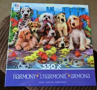 Ceaco Harmony 550 Piece Jigsaw Puzzle Howard Robinson Art Puppy Dogs Complete