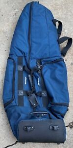 Mizuno-wheeled padded golf bag carrier/protector  great cond.