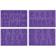 Wilton FONDANT & GUM PASTE Mold Cake Decorating LETTERS NUMBER Lower and Upper