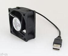 1pc USB Powered 5V 60 x 60 x 25mm 6025 USB Powered Brushless DC Cooling Fan