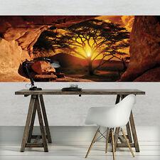 VLIES Fototapeten Fototapete Tapete Natur Afrika Sonne Baum Ausblick 3FX10260VEP