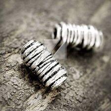 50pcs Lots Tibetan Silver Spacer Loose Charm Metal Beads Jewelry 11x6x6mm
