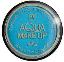 Gesicht und Körper Make-Up 15g himmelblau NEU - Styling Schminke Karneval Faschi