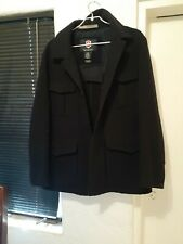 Authentic Victorinox Type SA-1 Men's Jacket Swiss Army black wool work Size XL