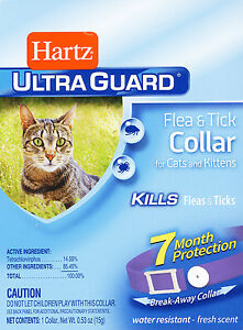 NEW! Hartz UltraGuard FLEA & TICK COLLAR for Cats & Kittens 7 MONTH PROTECTION
