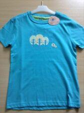 Camiseta de niña de 2 a 16 años de color principal azul 100% algodón