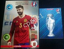 XXL Limited Edition CLASSIC - Piqué - Panini Adrenalyn XL UEFA Euro 2016 France
