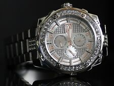 Marc Ecko Mens Multifunction Crystal Accent Rose Tone Silver Dial SS Watch NEW