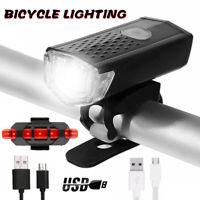 Fahrradbeleuchtung LED Fahrradlicht Rücklicht Set USB Frontscheinwerfer IPX-4