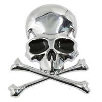 Metal 3d Wicked Skull Bone Shape motorcycle car emblem badge sticker R6A3) YG