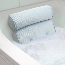Bath Tub Spa Pillow Cushion Neck Back Support Foam Comfort Bathtub w/Suction Cup
