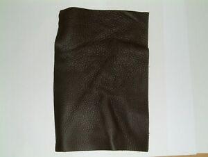 250mm x 165mm Dark Brown Leather Heavier Grain Craft Patch