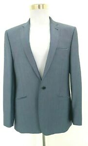 NEW Ted Baker suit, wool & mohair, blue, Jacket 42R, pants 36