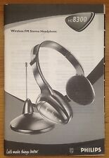 INSTRUCTIONS MANUAL Quick User Guide Philips Wireless Stereo Headphones HC8300