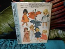 "1968 McCalls DOLL CLOTHES sewing pattern 9449 12-16"" doll"