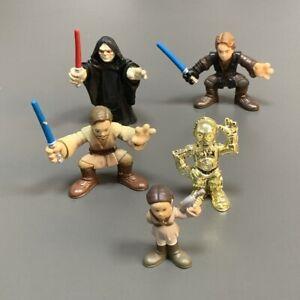 5X Playskool Galactic Battle On Mustafar Heroes Emeror Palpatine Padme C-3PO Set