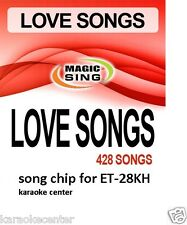 New Entertech MAGIC SING Karaoke MIC LOVE SONGS 428 song chip for ET28KH