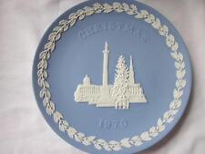 Vtg Wedgwood Christmas 1970 Blue Jasper Trafalgar Square London Landmark Plate