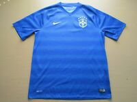 2014-2015 CBF Brasil Brazil Nike Away Stadium Soccer Jersey Shirt Adult Large