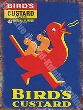 Vintage Food 91, Bird's Custard, Retro Duck Cafe Old Shop, Medium Metal/Tin Sign