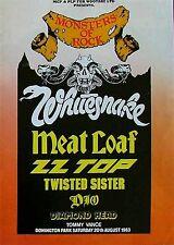 Whitesnake-Castle Donington Monsters Of Rock 1983-concert poster