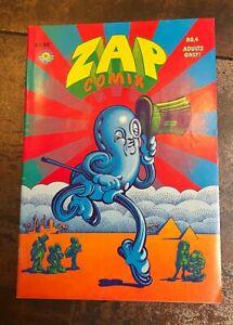 ZAP COMIX #4 R Robert Crumb Underground 1967 Edition 6th printing EUC near MINT!