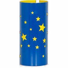 Tischleuchte Blau Gelb Sterne Mädchen Jungs Ø10cm Nachttisch Lampe Kinderzimmer