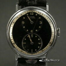 Rare GLYCINE 33 mm Doctor´s  Watch Steel  ca. 1940