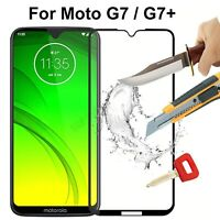 For Motorola Moto G7 G7+ Full Cover Tempered Glass Shockproof Screen Protector