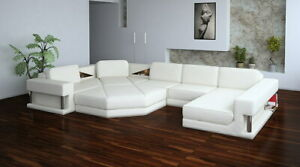 Interior Design Corner Sofa With USB Couch Pads Leather Set Immediate