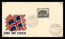 Iceland 1952 FDC, The Parliament Building, Lot # 1.