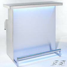 DELUX Stainless Steel Portable Bar with Holographic Lighting & Ice Strainer Bin