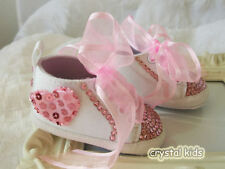 Satin Pram Baby Shoes with Laces