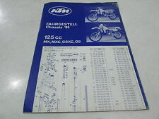 POSTER PIECES CHASSIS FRAME SPARE PARTS KTM 125 MX MXC GSXC GS 1985 202.30