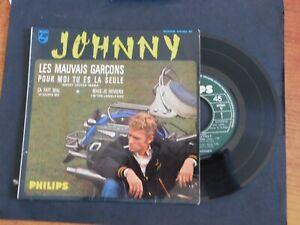 Autographe ORIGINAL johnny hallyday Pochette EP 45T 434905 BE OFFENBURG 43E RIMA