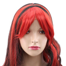 Fashion Women Girls Two-color Matching Long Curly Hair Oblique Bangs Party Wig J