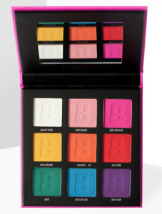 BEAUTY BAY Bright Matte 9 Colour Palette - Rainbow Neon Funky Electric Eyeshadow