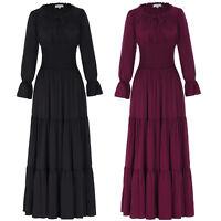 Women Cotton Vintage 1900's 20's Retro Pinup Swing Renaissance Victorian Dress