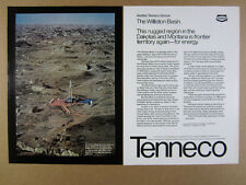 1980 Williston Basin Oil & Gas Exploration rig photo Tenneco vintage print Ad