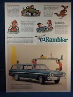 Vintage Magazine Ad Print Design Advertising Rambler Station Wagon 1964