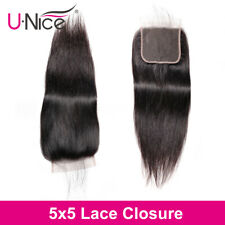 UNice Hair 5x5 Straight Lace Closure Free Part Human Hair Closure With Baby Hair