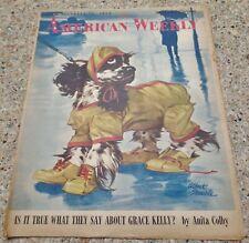 American Weekly Magazine Staehle Butch Dog Cocker Spaniel December 26 0000059D , 1954